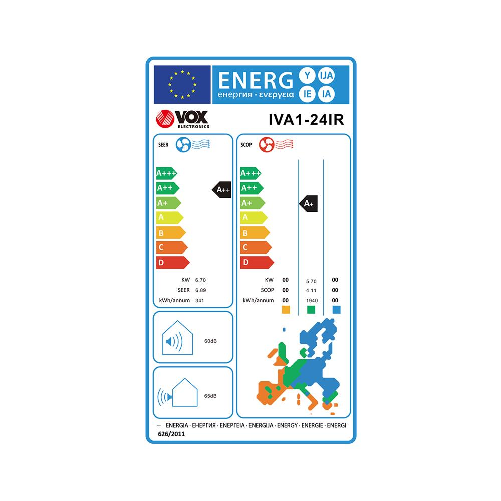 VOX Klimatska naprava IVA1-24IR z montažo