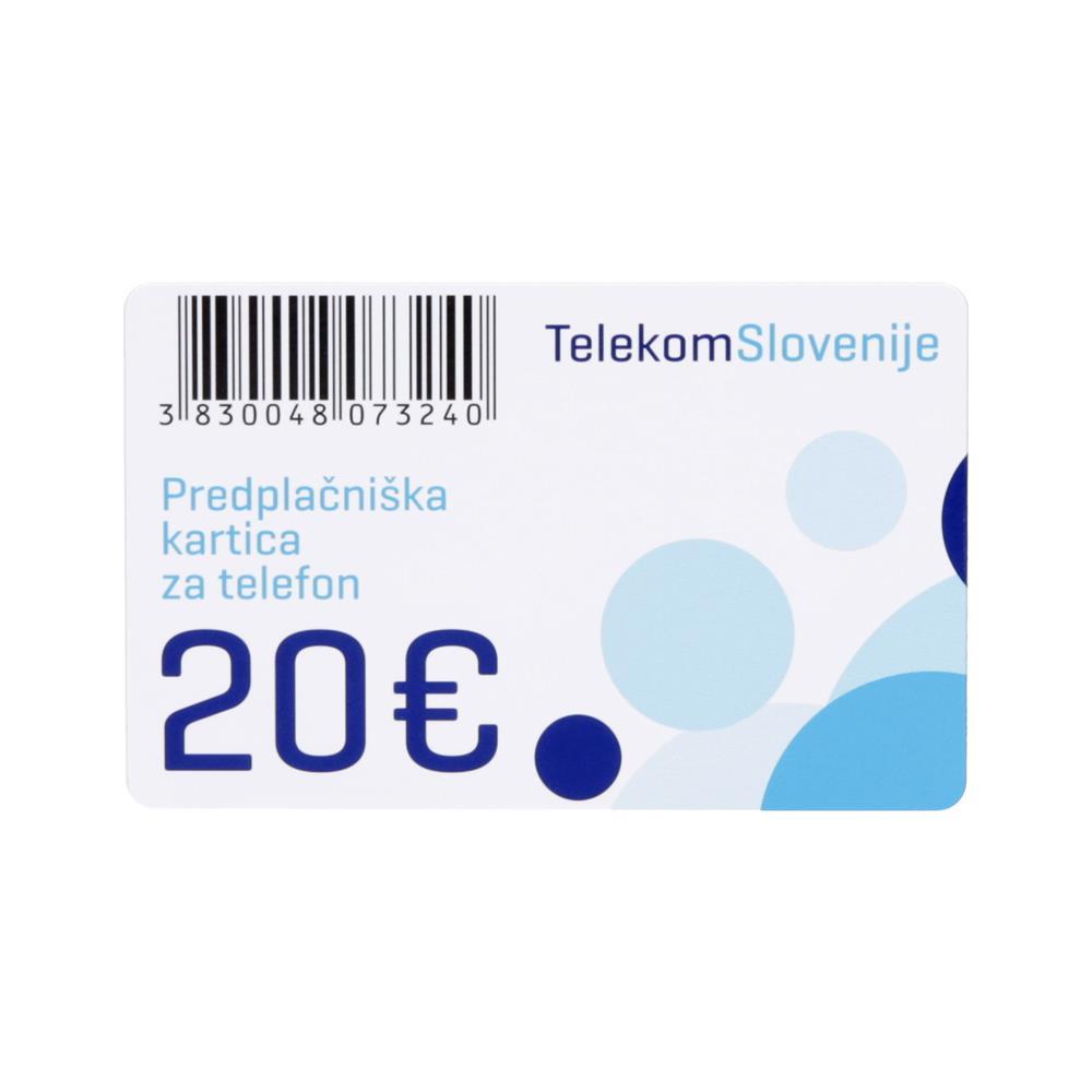 Telekom Slovenije IP telekartica 20 EUR