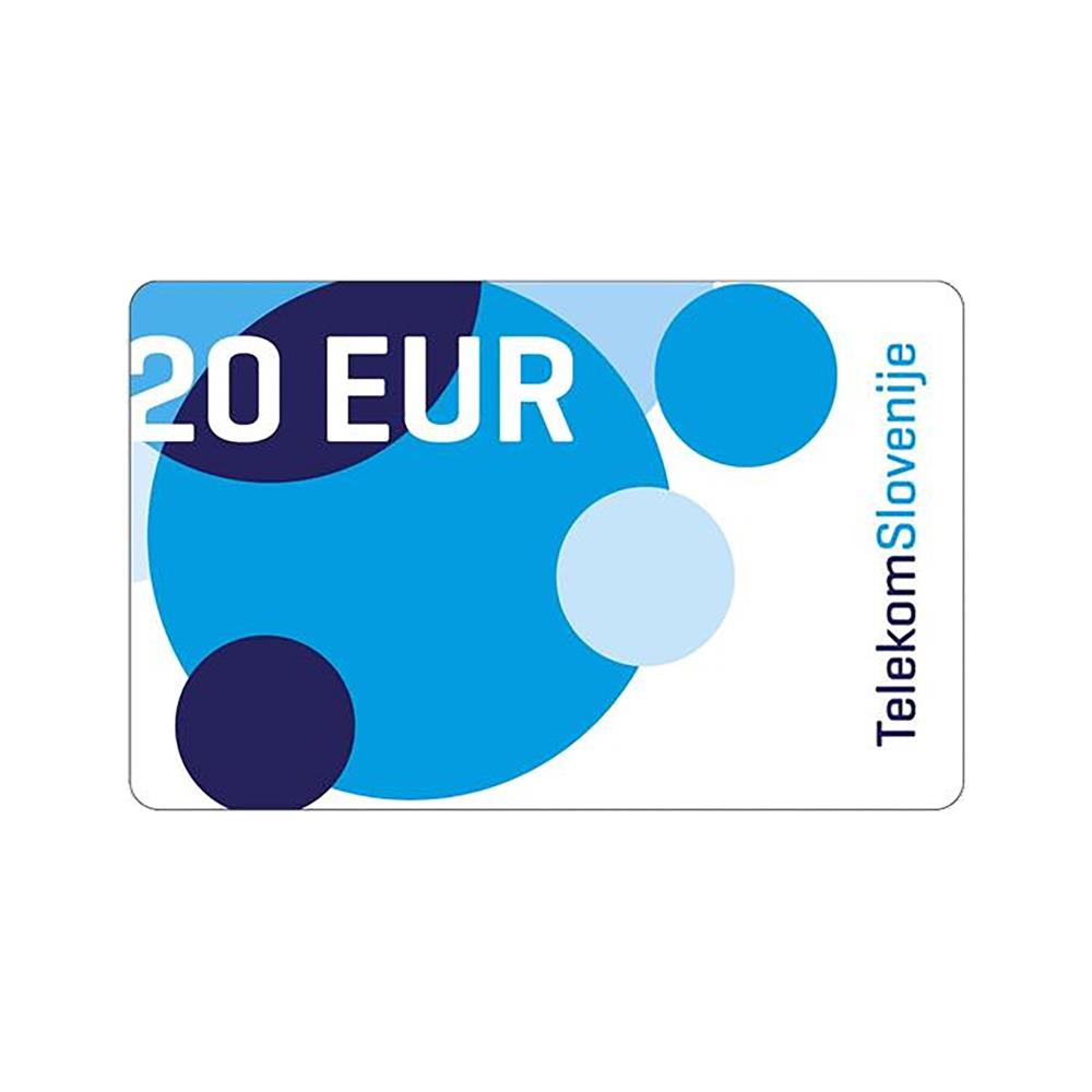 Telekom Slovenije Vrednostna kartica MOBI 20 EUR