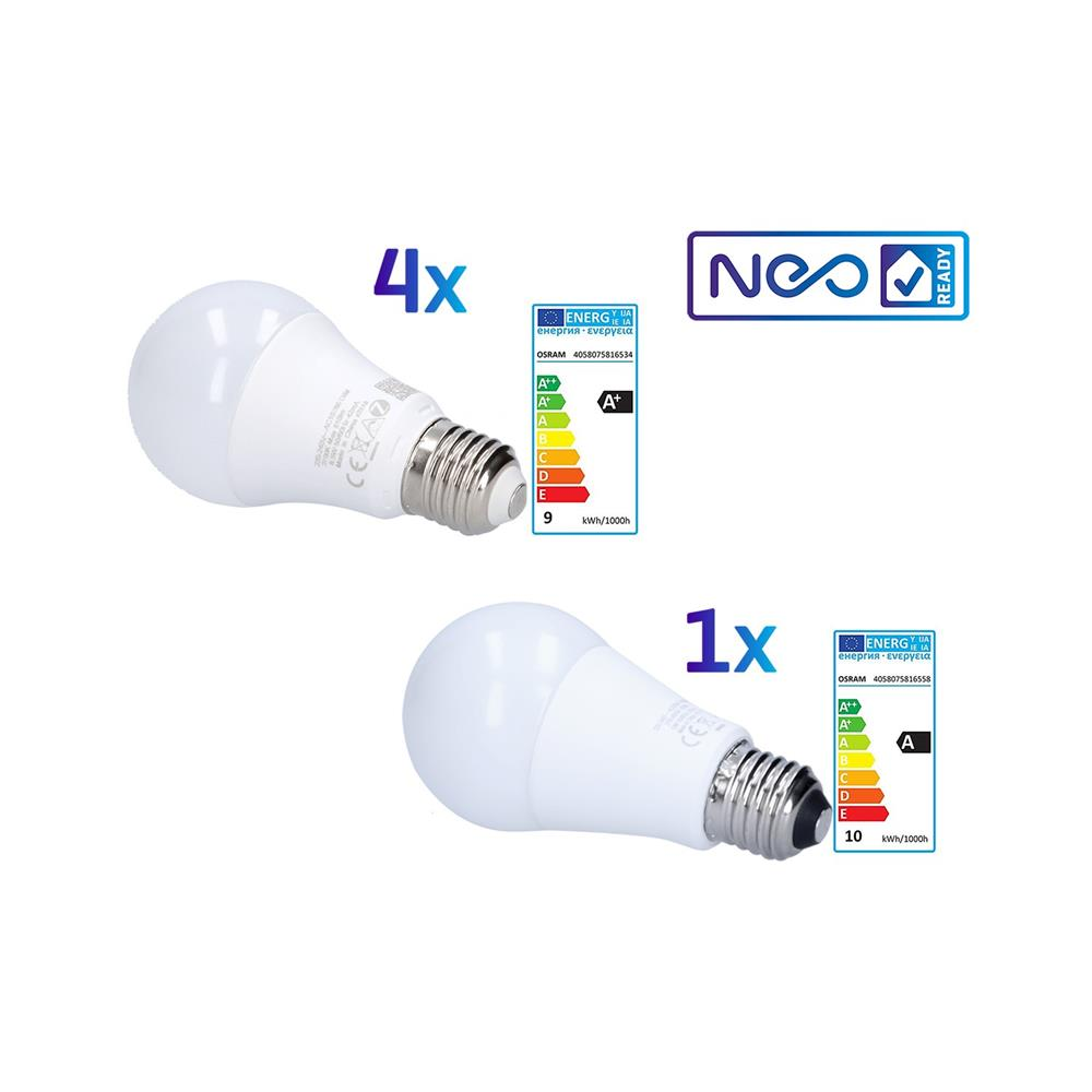 Osram Komplet pametnih žarnic LED E27 A60 (4x Dimmable in 1x RGBW)