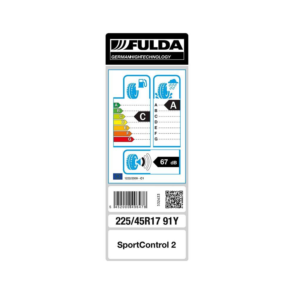 Fulda 4 letne pnevmatike 225/45R17 91Y Sportcontrol 2 FP