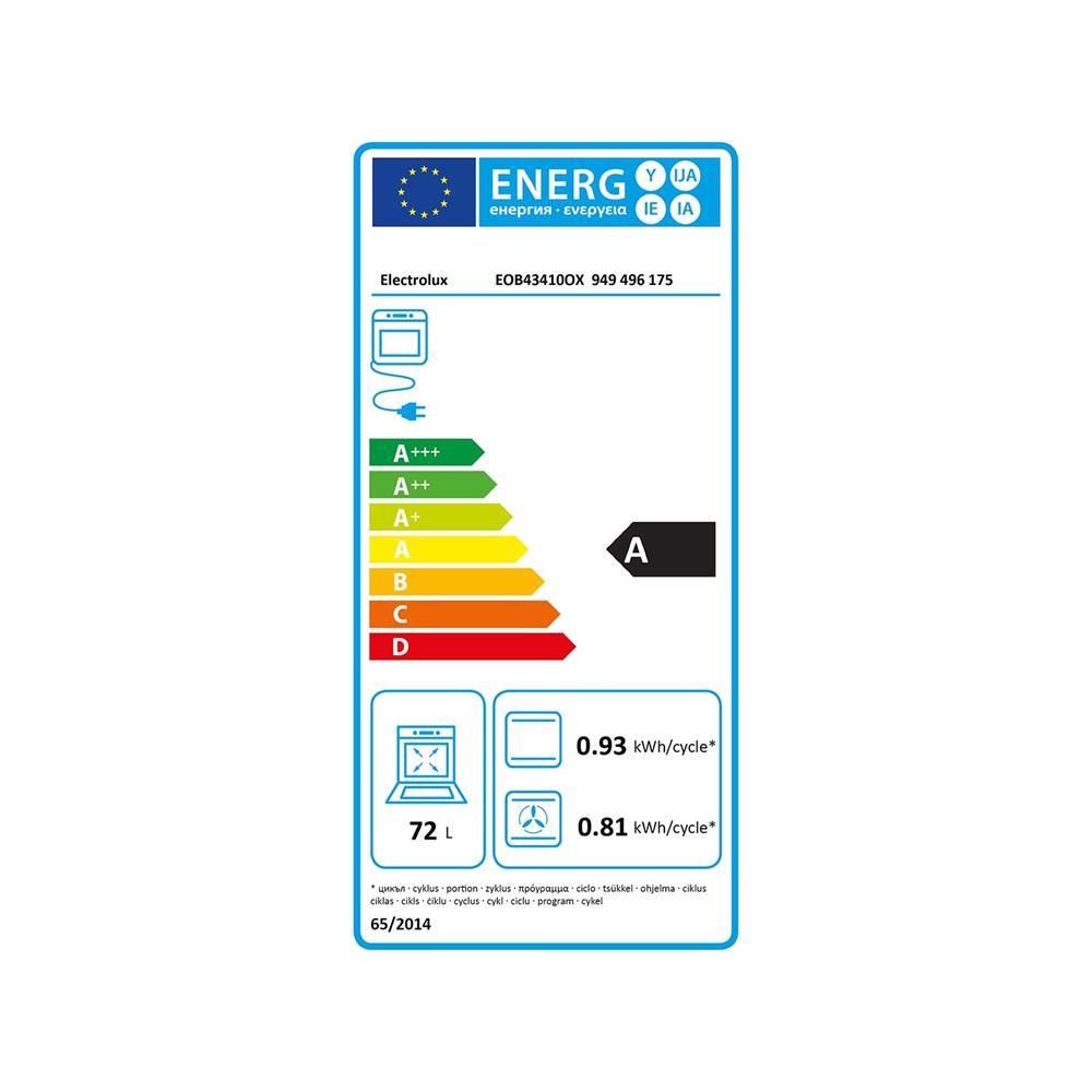 Electrolux Komplet steklokeramična kuhalna plošča EHF6547FXK in električna pečica EOB43410OX