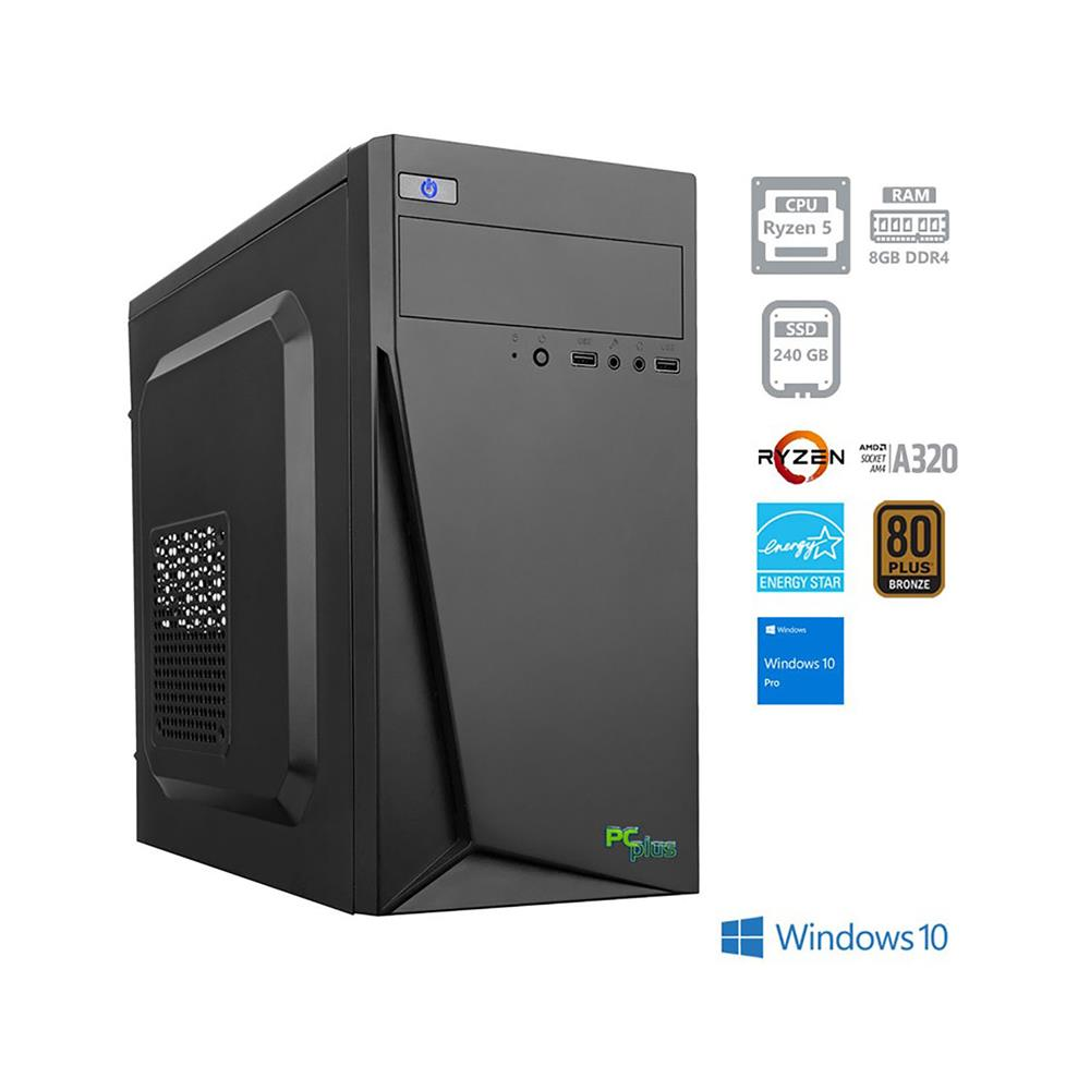 PCplus i-net AMD Ryzen 5 2400G Windows 10 Pro