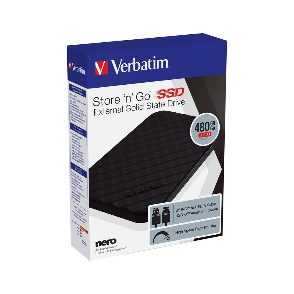 Verbatim Zunanji SSD disk 480GB USB 3.1 53229