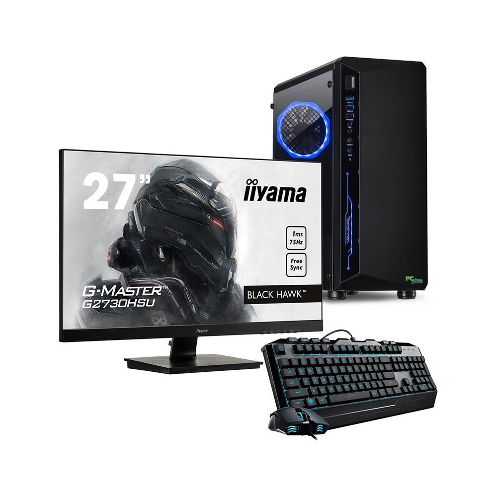 PCplus Računalniški komplet Gamer, monitor Iiyama, miška in tipkovnica
