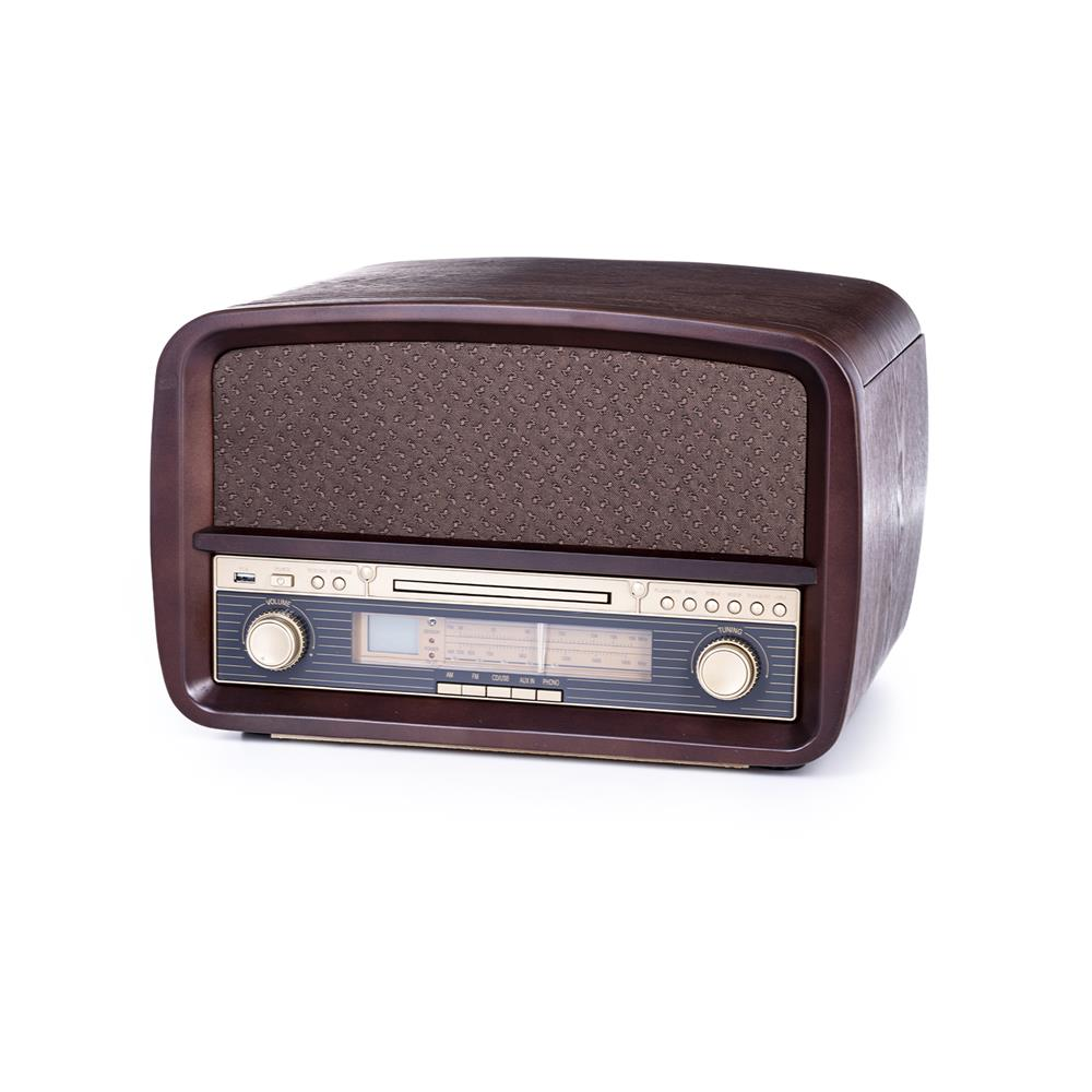 Camry Retro gramofon/radio/CD player/USB player/snemalnik MP3