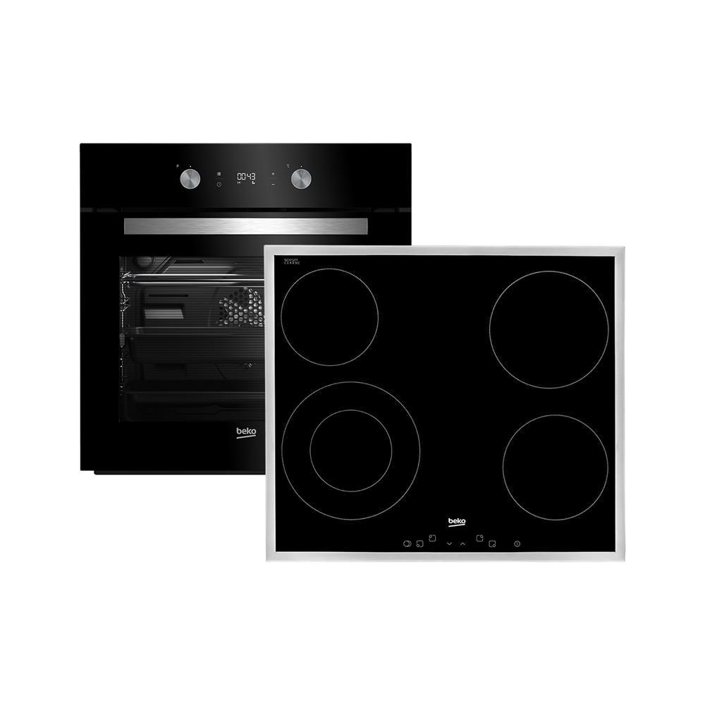 Beko Komplet steklokeramčina kuhalna plošča in električna pečica (BSE24322B)