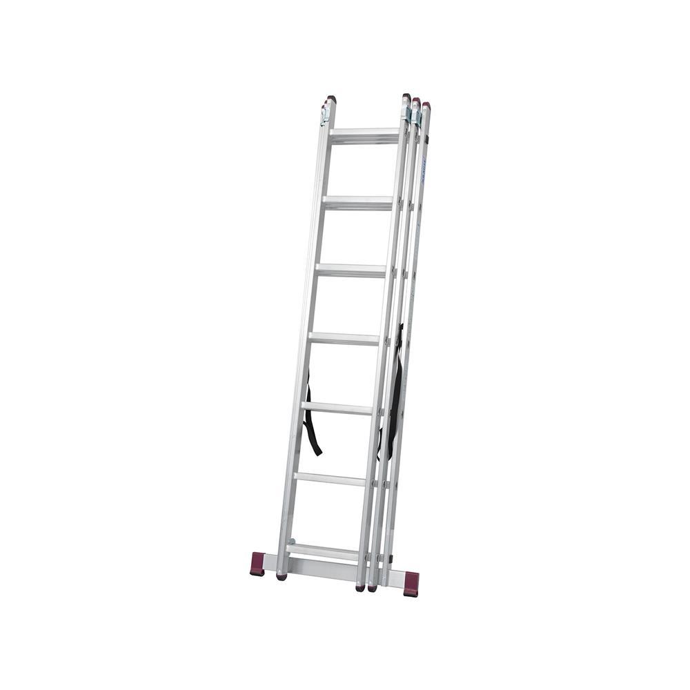KRAUSE Aluminijasta trodelna lestev 3x7 stopnic
