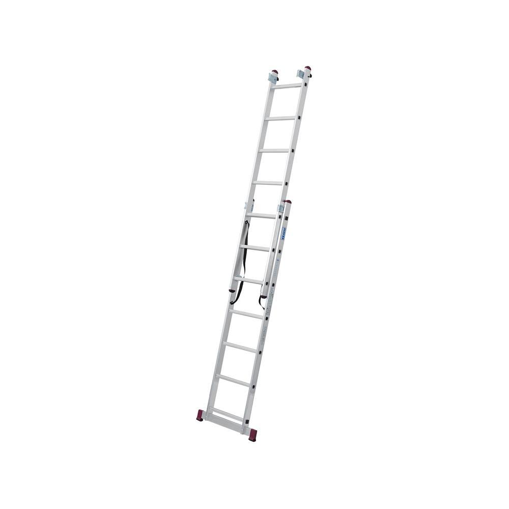KRAUSE Aluminjasta trodelna lestev 3x7 stopnic
