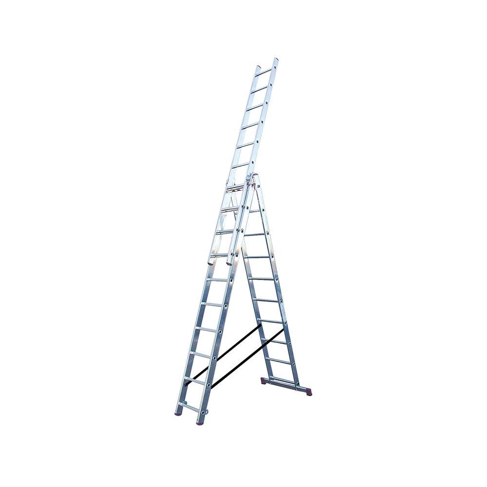 KRAUSE Aluminjasta trodelna lestev 3x10 stopnic