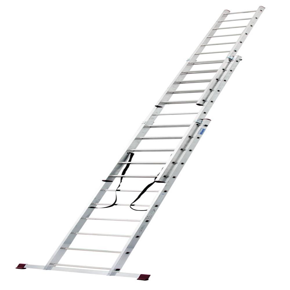 KRAUSE Aluminijasta trodelna lestev 3x11 stopnic