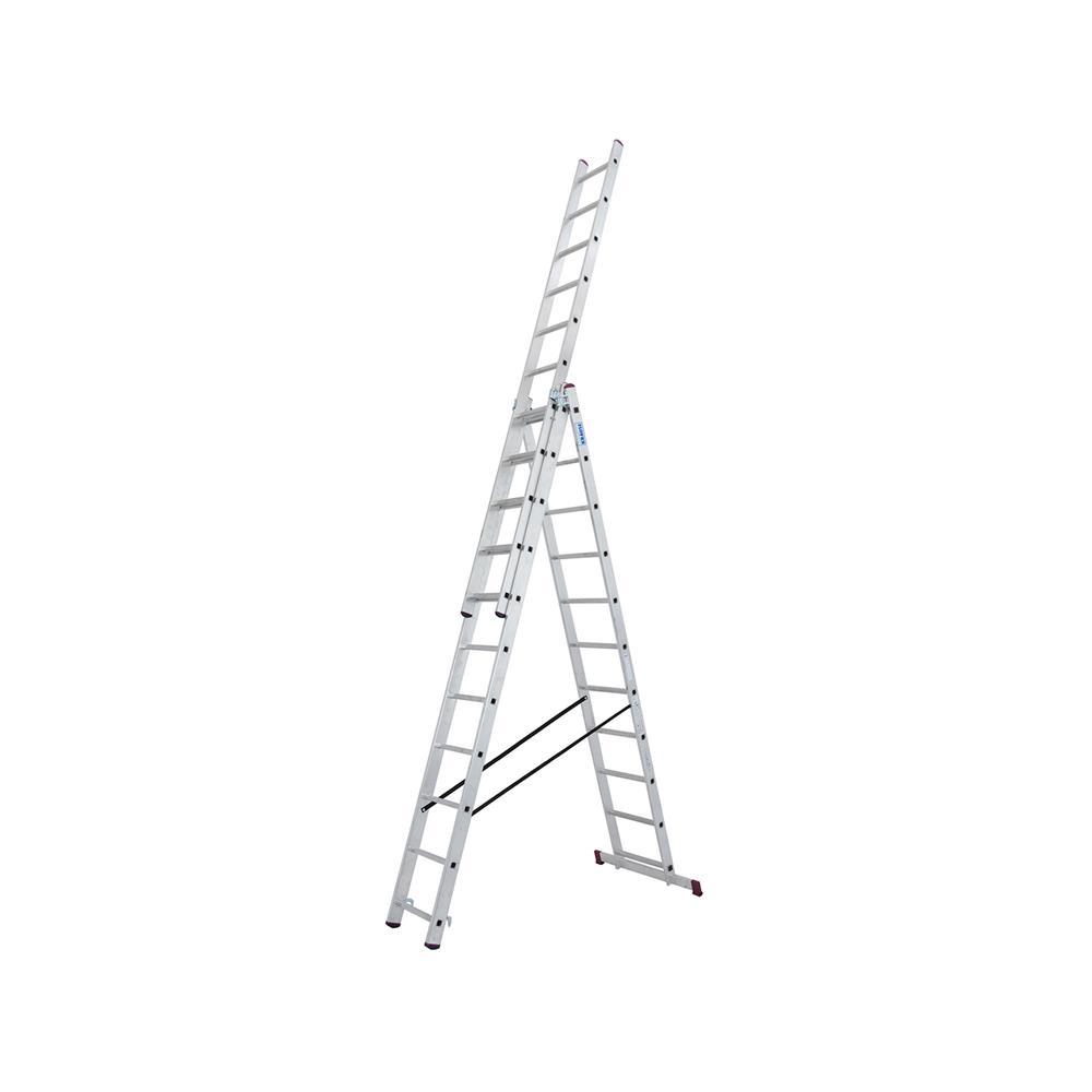 KRAUSE Aluminjasta trodelna lestev 3x11 stopnic