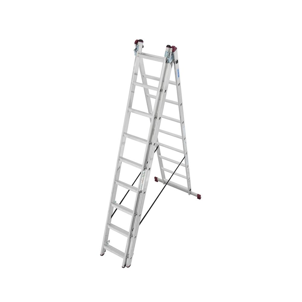 KRAUSE Aluminijasta trodelna lestev 3x9 stopnic