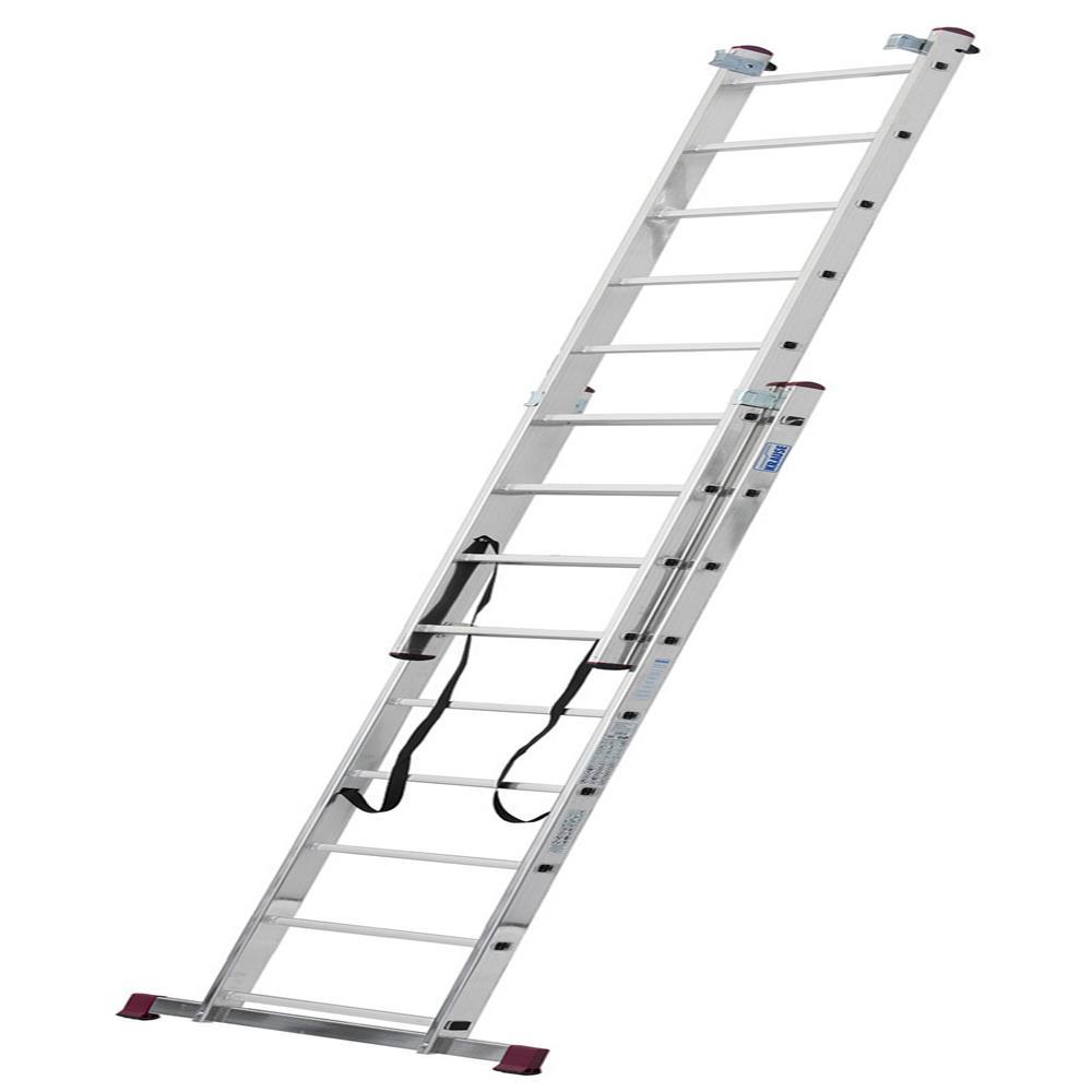 KRAUSE Aluminjasta trodelna lestev 3x9 stopnic
