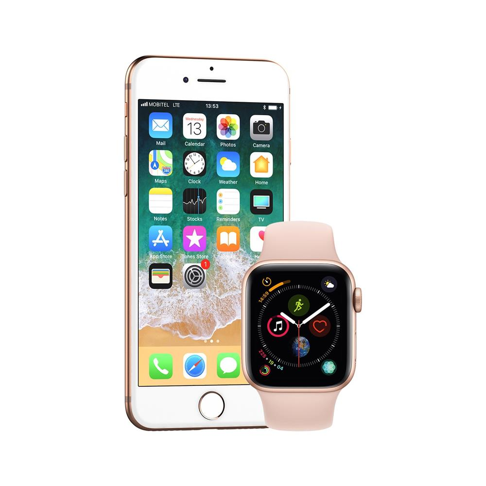 Apple iPhone 8 in pametna ura Watch Series 4 GPS 40mm Sport Band(MU682BS/A)
