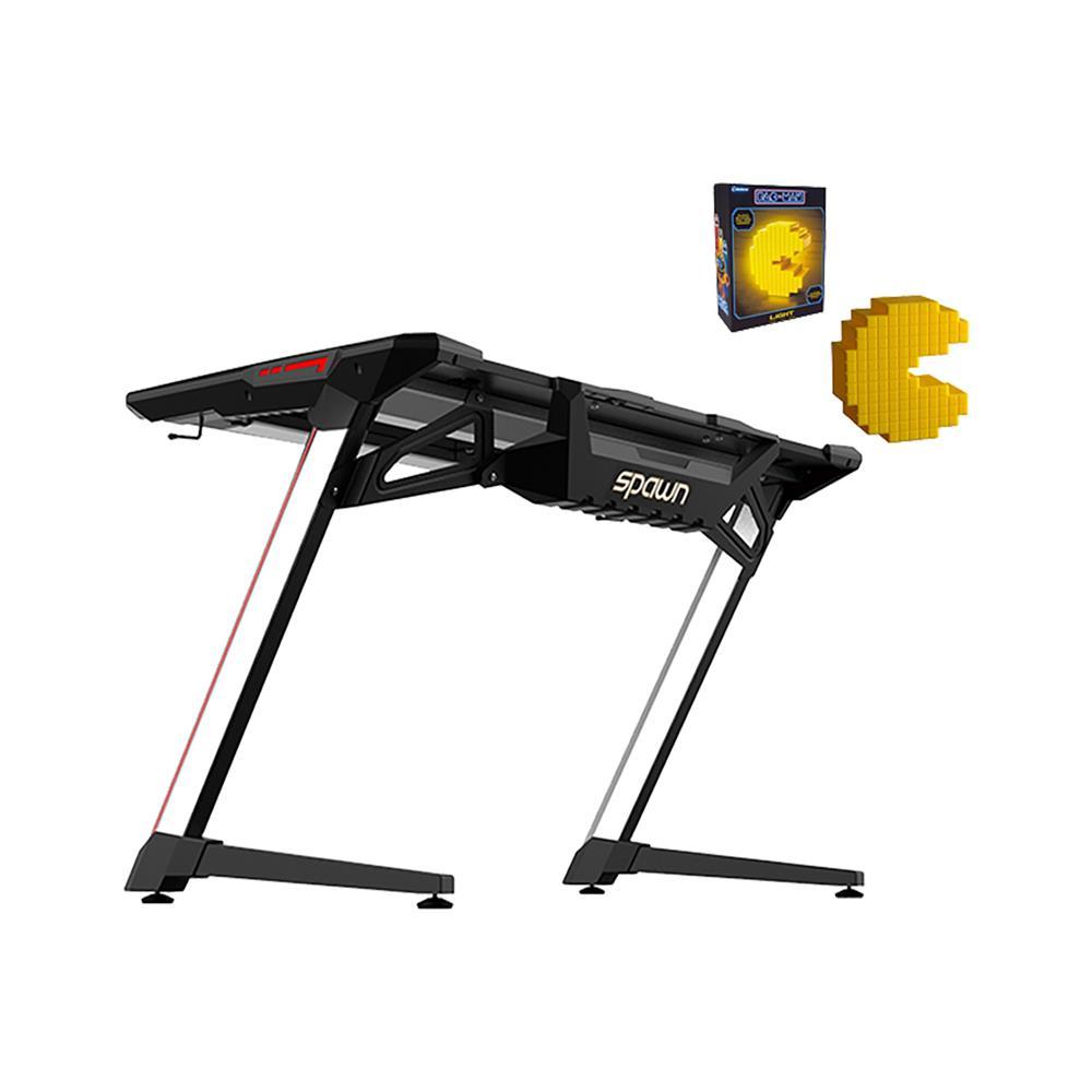 Spawn Gaming računalniška miza Horz Z3A in darilo namizna svetilka Pac Man