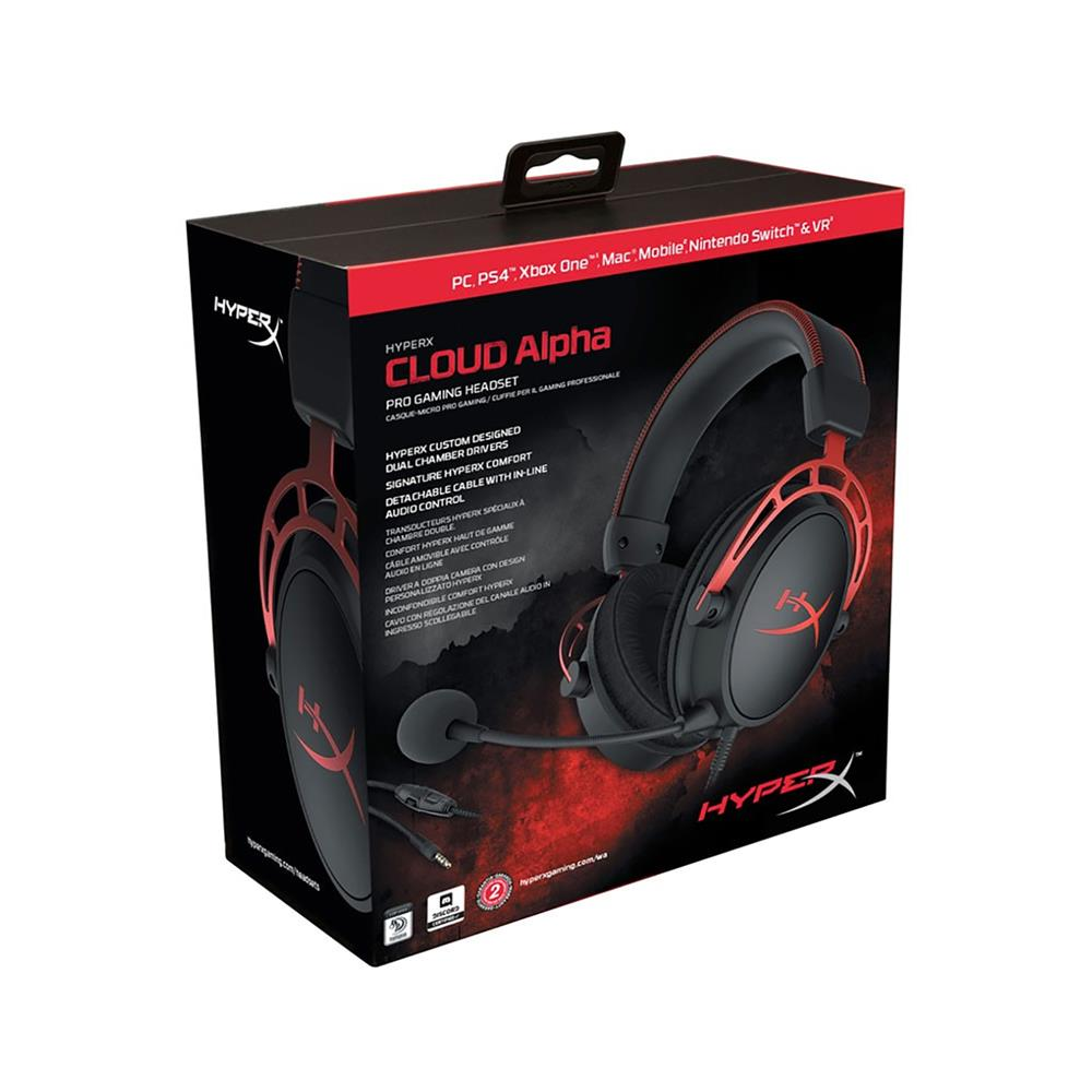 Kingston Gaming slušalke HyperX Cloud Alpha (HX-HSCA-RD/EM)
