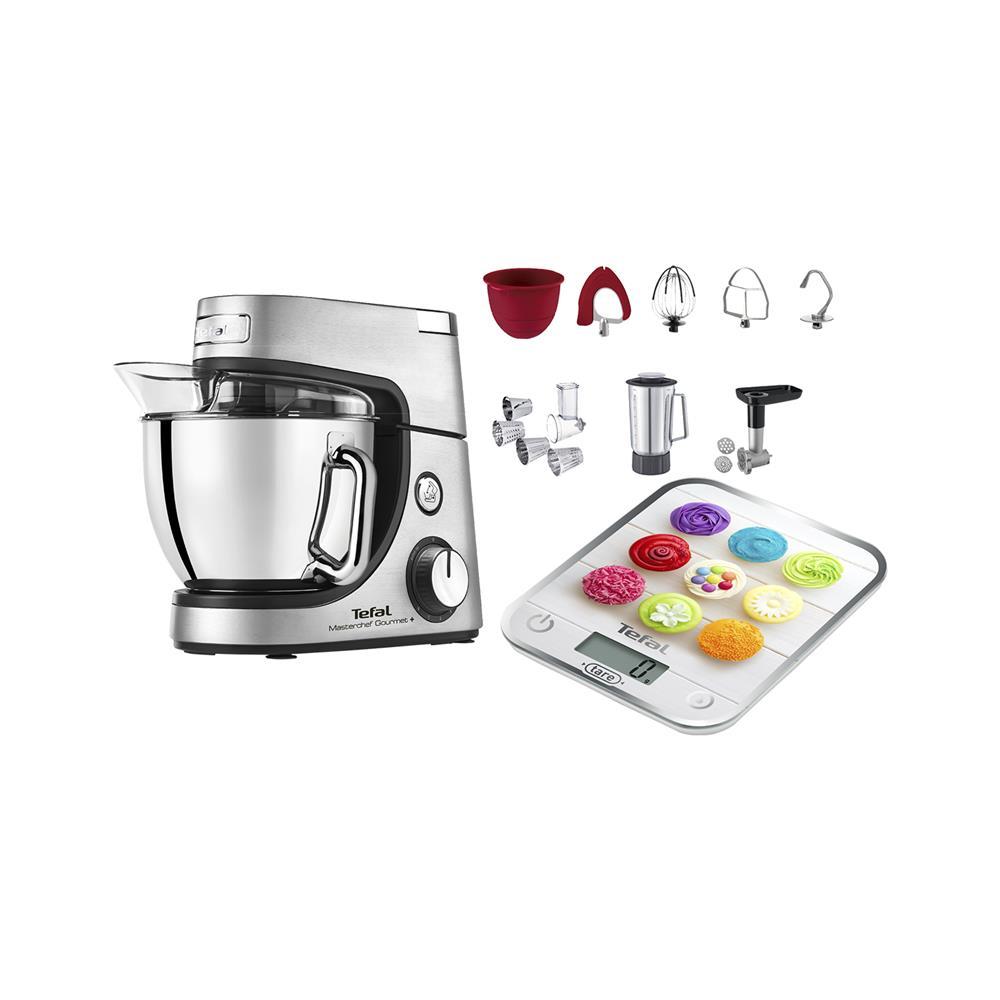 Tefal Kuhinjski robot Mastechef Gourmet+(QB632D38) in kuhinjska tehtnica Optiss Cupcakes (BC5122V0)