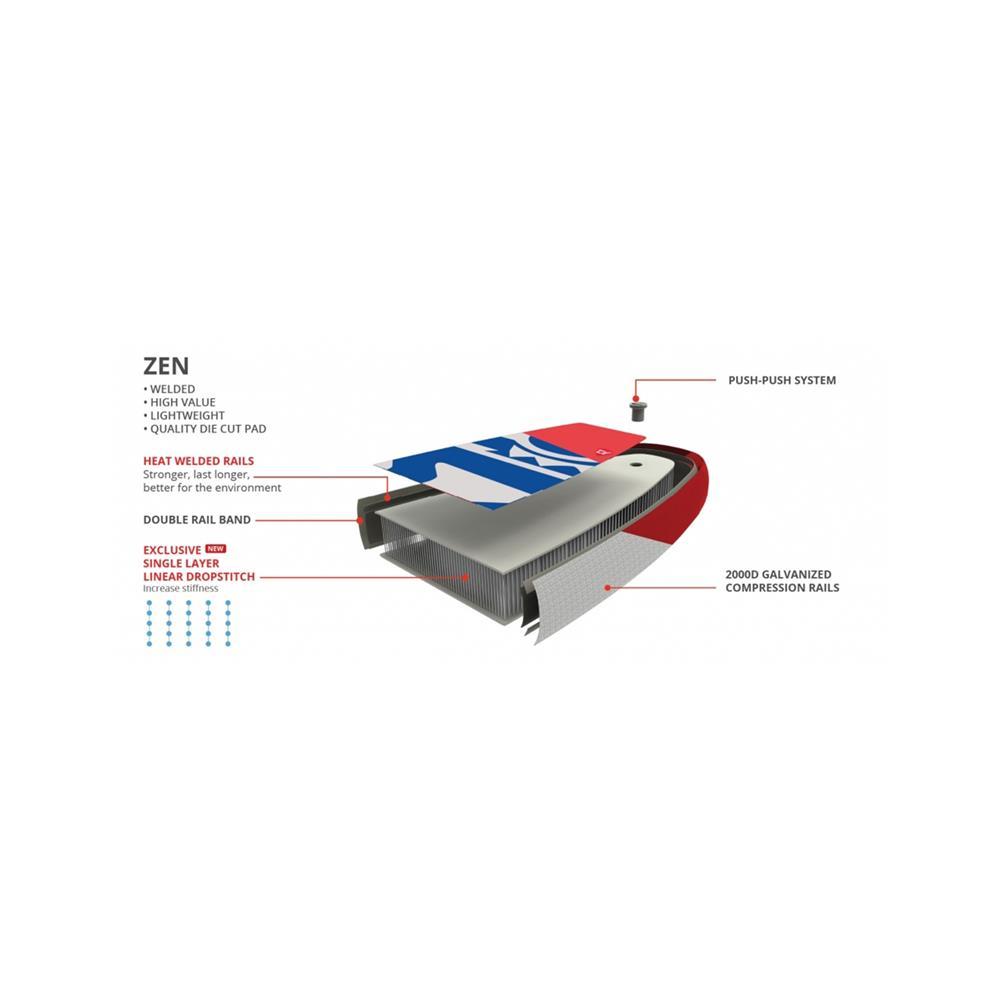 Starboard SUP deska 12.6X30X6 Touring Zen 2020 z veslom Tufskin