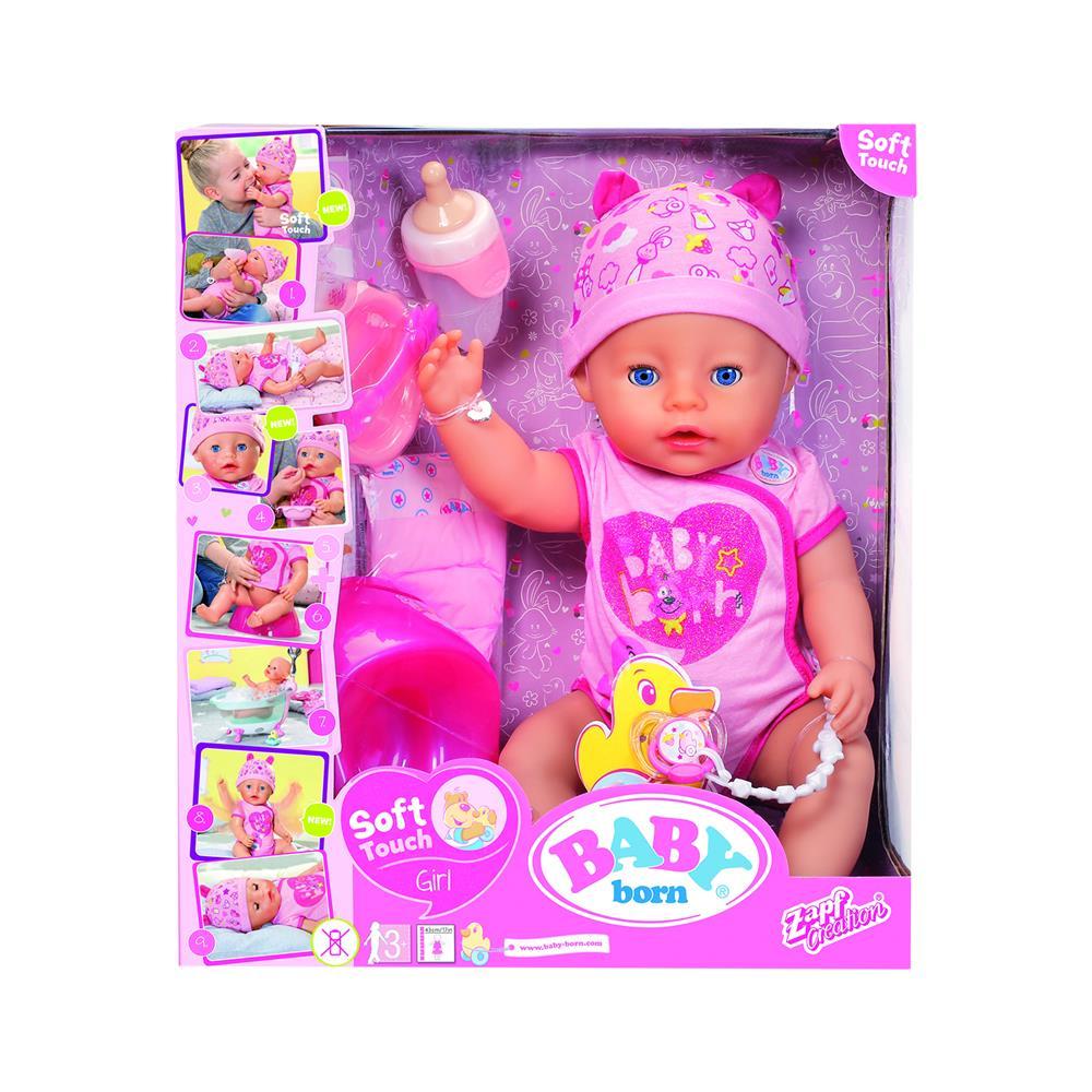 Zapf BABY born® Soft Touch punčka z modrimi očmi