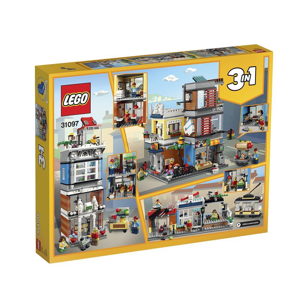 LEGO Creator Mestna trgovina z malimi živalmi in kavarna 31097