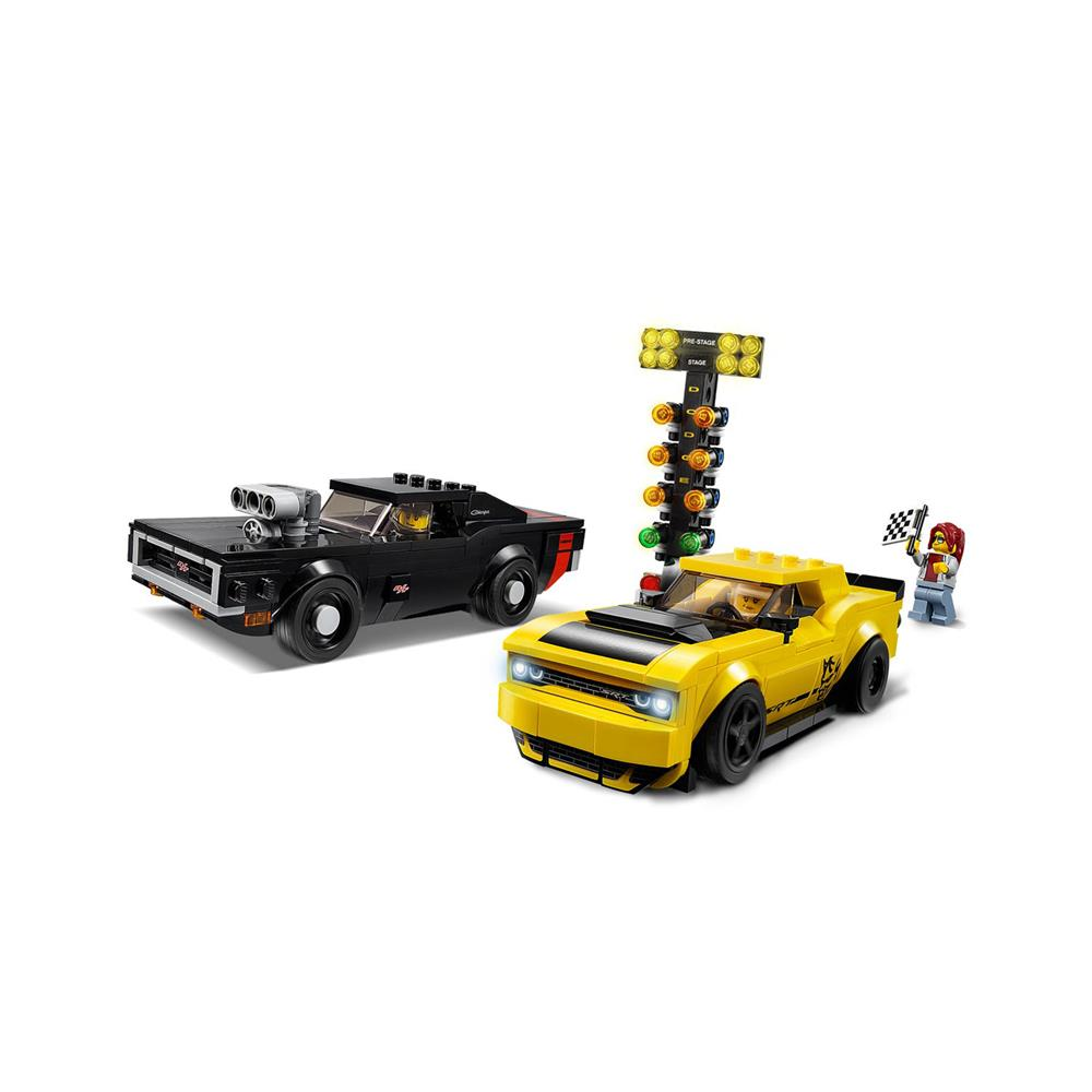 LEGO Speed Champions 2018 Dodge Challenger SRT Demon in 1970 Dodge Charger R/T 75893