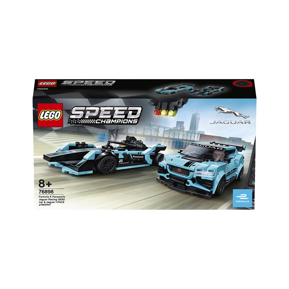 LEGO Speed Formula E Panasonic Jaguar Racing GEN2 in Jaguar I-PACE eTROPHY 76898