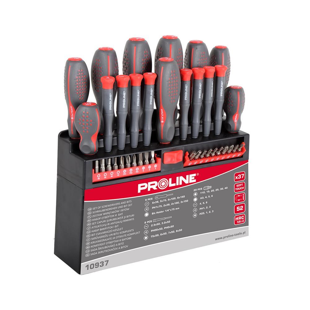 PROLINE Set izvijačev in nastavkov S2 soft touch (37-kosov)