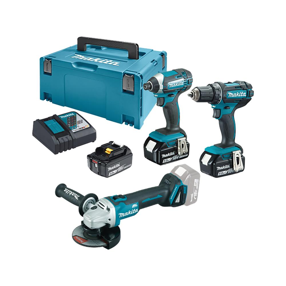 Makita Set orodja Makita DLX2127TJ1 in DGA504Z