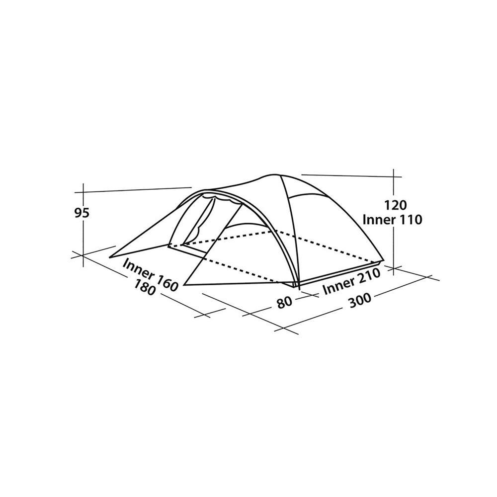 OASE OUTDOORS APS Šotor Easy Camp Quasar 300 za 3 osebe