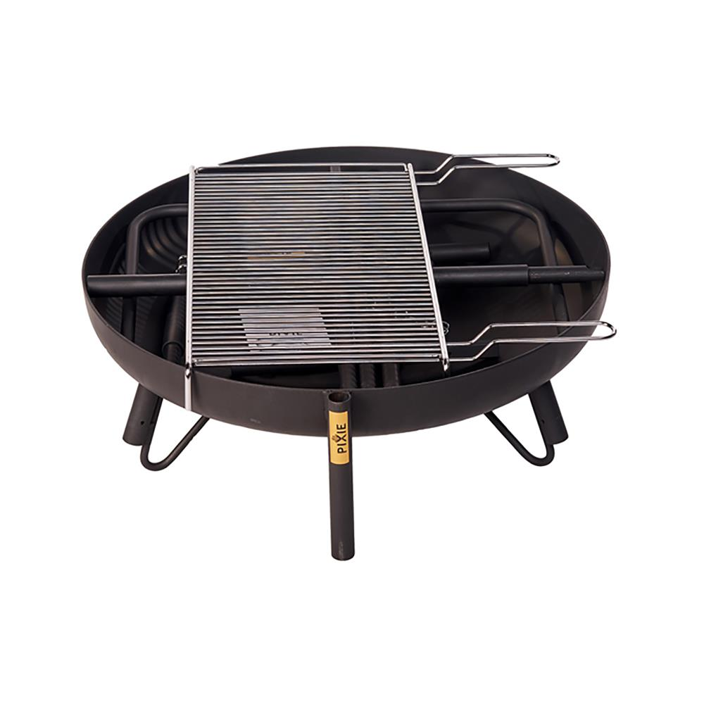 PIXIE Večnamensko kurišče 650 4v1 z grill rešetko in 16l Emajl kotličkom