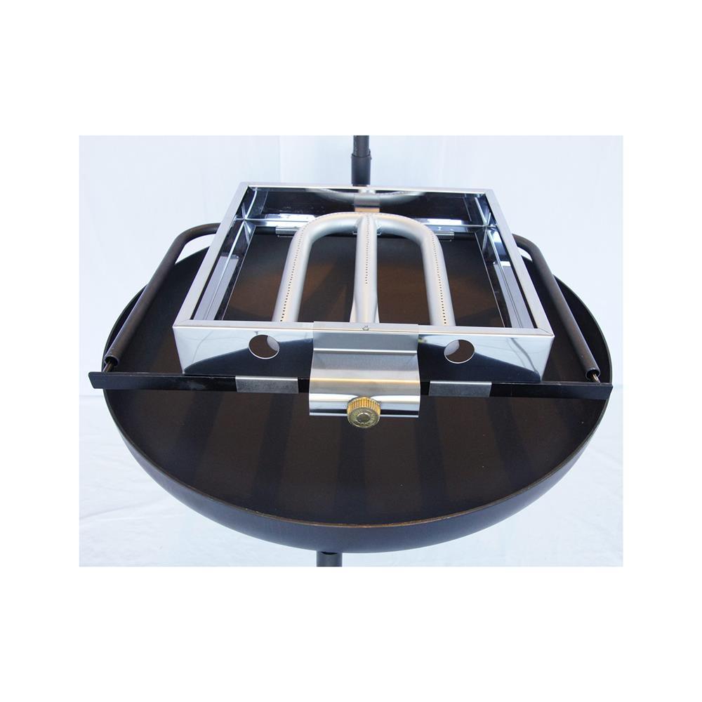 PIXIE Večnamensko kurišče 650 4v1 s 16l Emajl kotličkom in plinskim žarom ELP 410