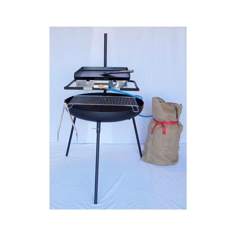 PIXIE Večnamensko kurišče 650 4v1 z grill rešetko,16l Emajl kotličkom in plinskim žarom ELP 410