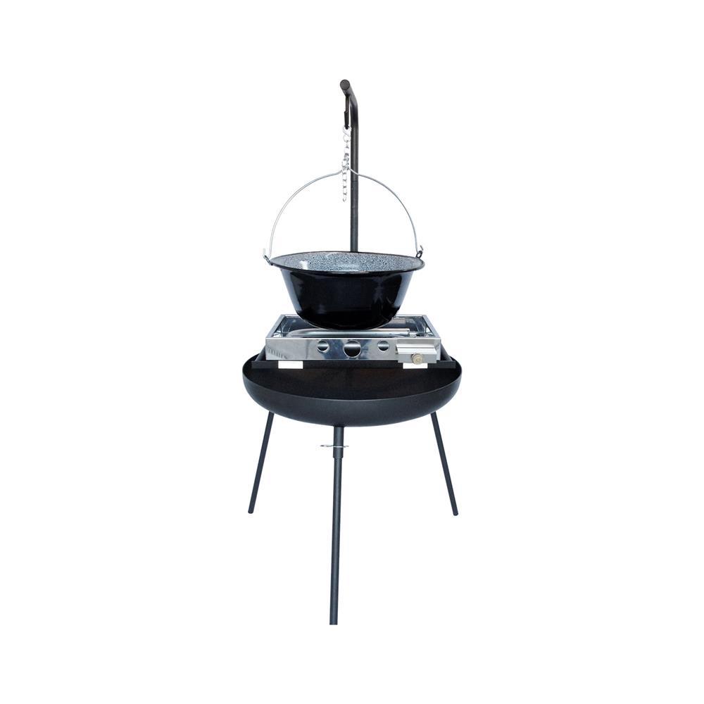 PIXIE Večnamensko kurišče 650 4v1 z grill rešetko,16l Emajl kotličkom in plinskim žarom ELP 510
