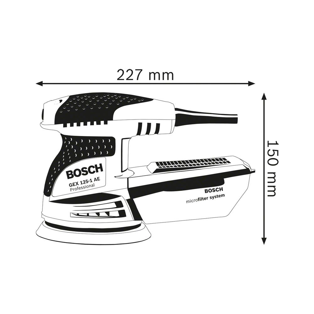 Bosch Ekscentrični brusilnik GEX 125-1 AE Professional