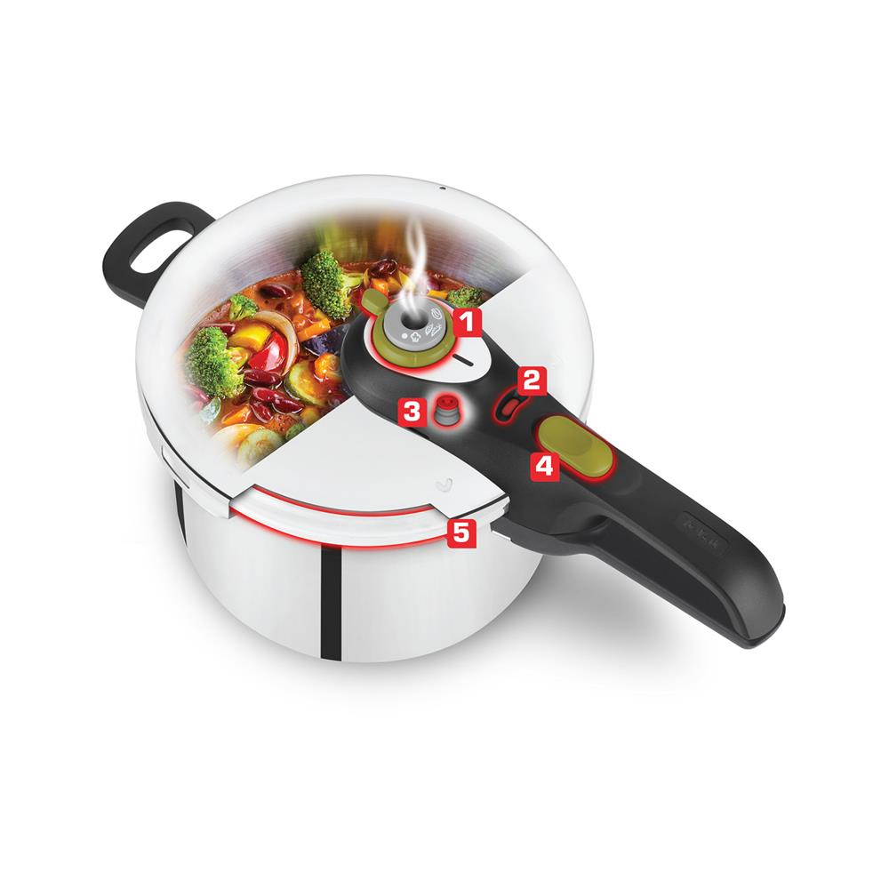 Tefal Ekonom lonec Secure 5 neo Color 6L P2530750