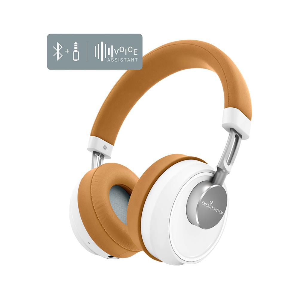 ENERGY SISTEM Bluetooth slušalke Smart 6 Voice Assistant Caramel