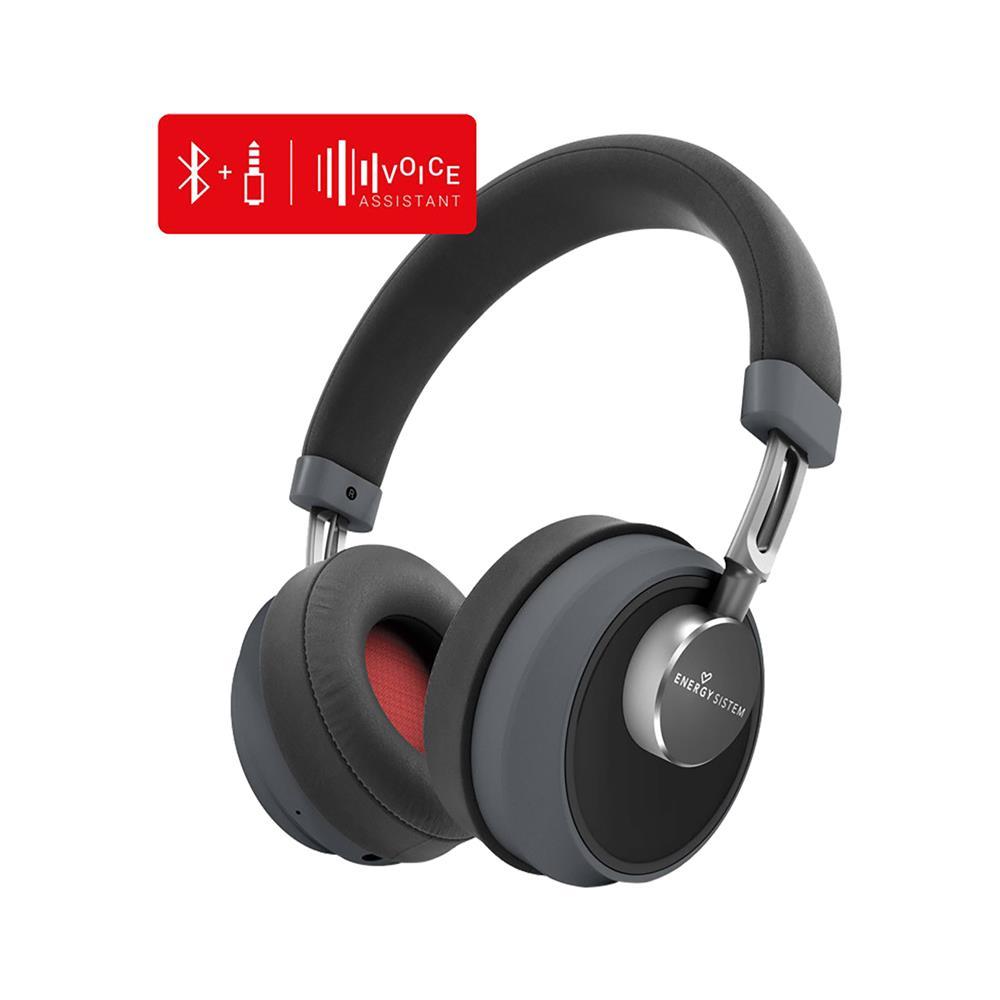 ENERGY SISTEM Bluetooth slušalke Smart 6 Voice Assistant Titanium