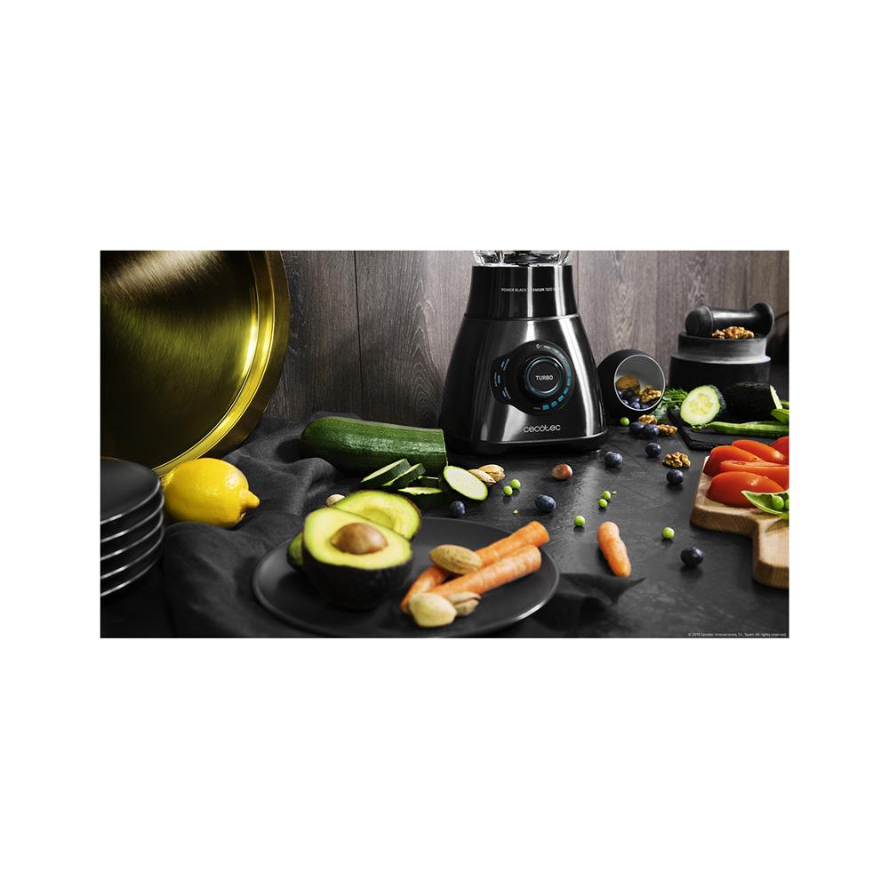 Cecotec Blender power black titanium 1800W smart