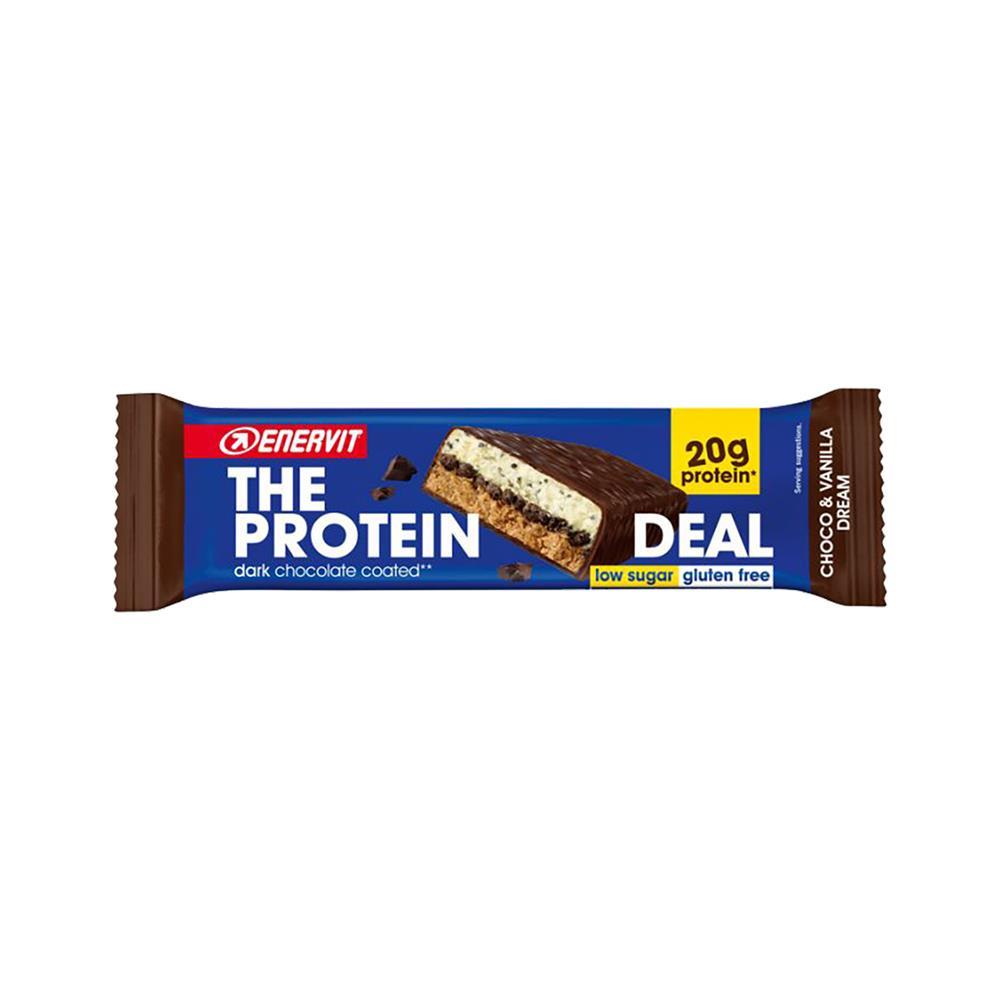 ENERVIT Energijska ploščica The Protein Deal (25 kosov po 55g) čokolada-vanilija