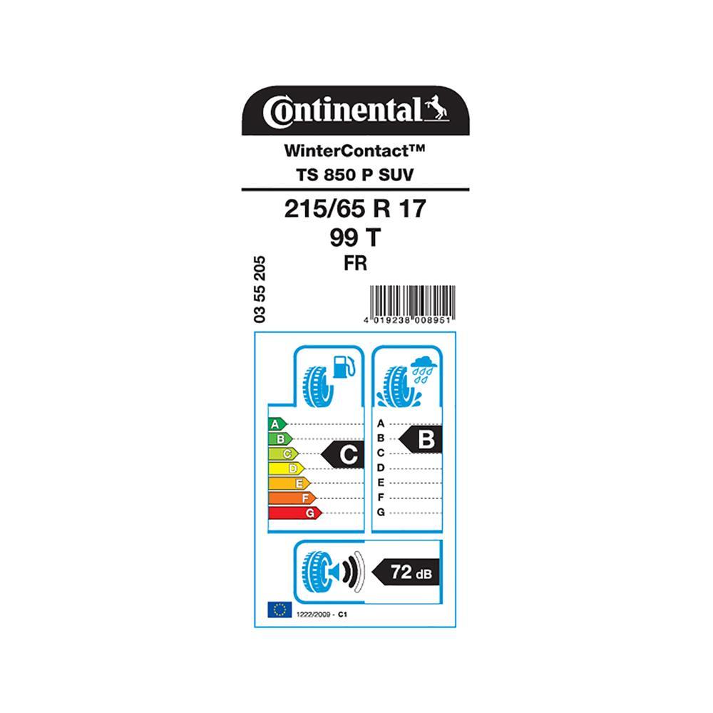 Continental 4 zimske pnevmatike 215/65R17 99T WinterContact TS 850P SUV