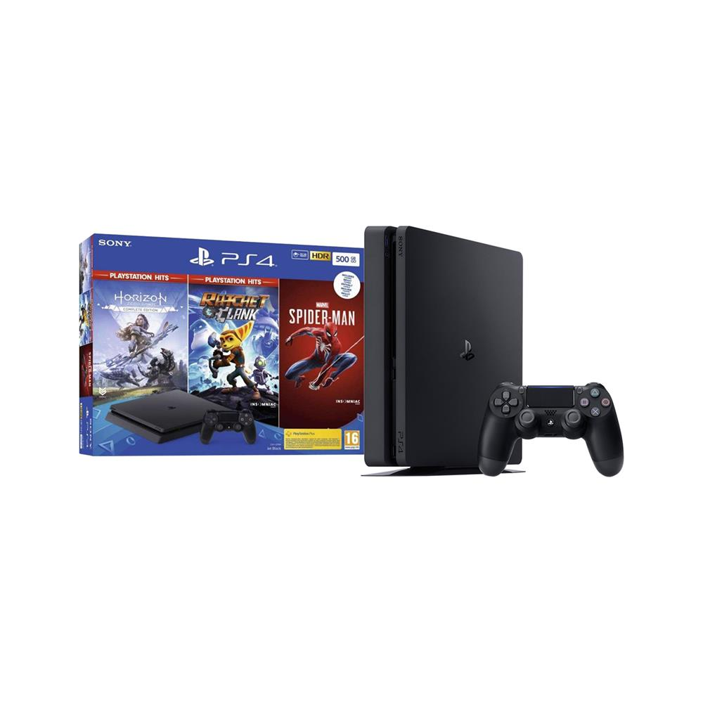Sony PlayStation® 4 z igrami Spider-Man, Horizon ZD:CE in Ratchet & Clank