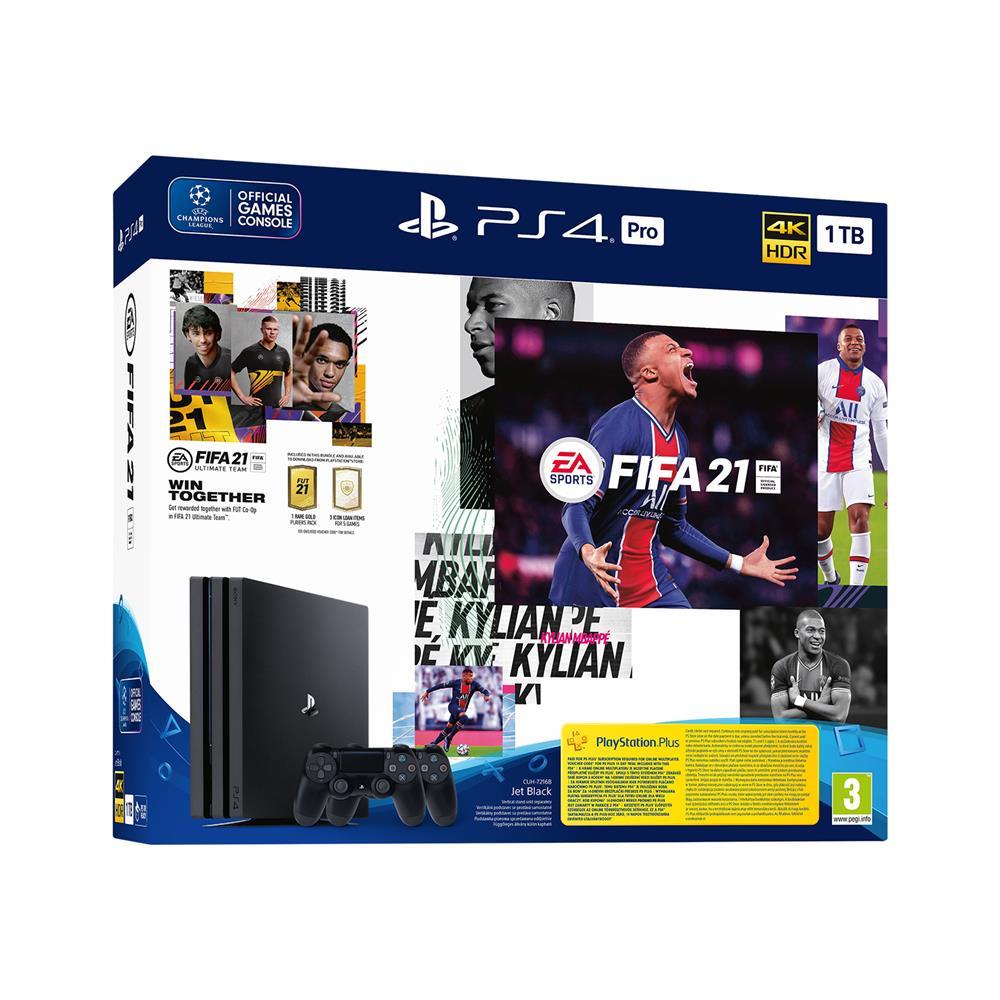 Sony PlayStation® 4 Pro set z igro FIFA 21 in igralnim ploščkom DualShock 4