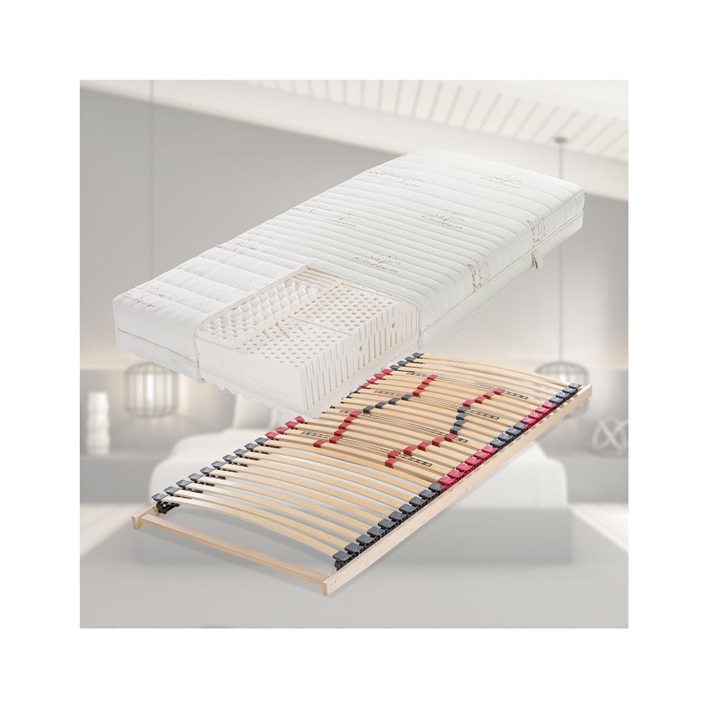 Hitex Set ležišča Lux Comfort Cott T,90x190 cm in letvenega dna Regular Lux fiksno