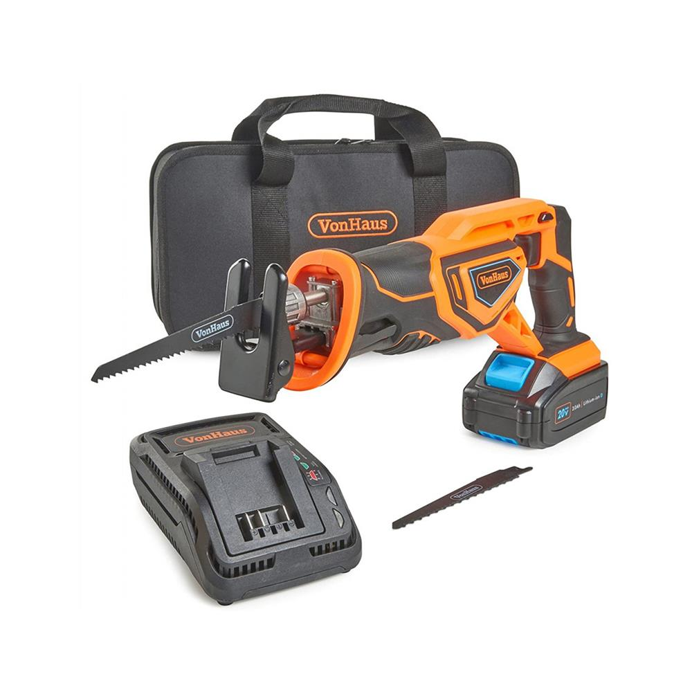 VonHaus Akumulatorska sabljasta žaga in 20V D-Series baterija 3,0Ah 3500009