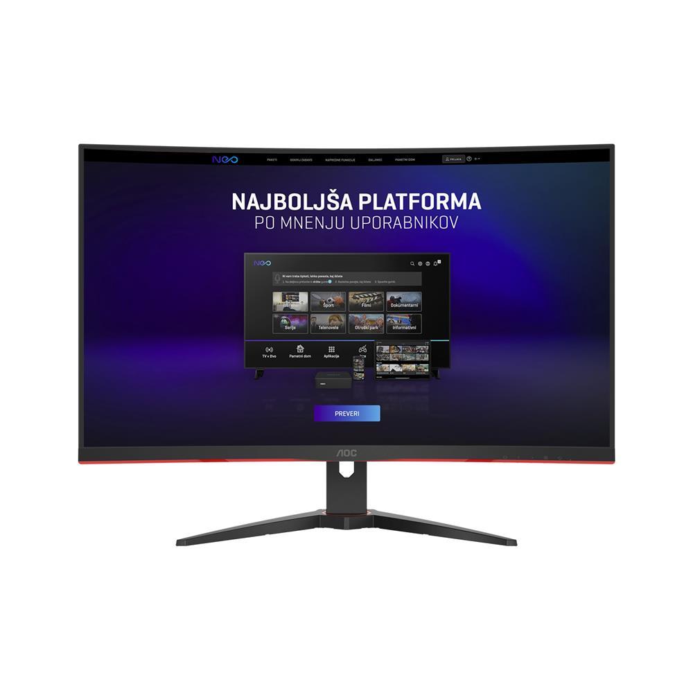 AOC Ukrivljen gaming monitor CQ32G2SE