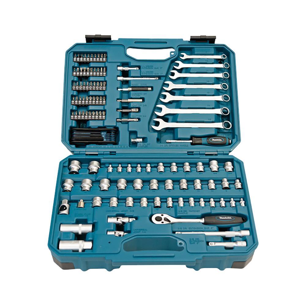 Makita 120-delni set ročnega orodja in vijačnih nastavkov E-06616