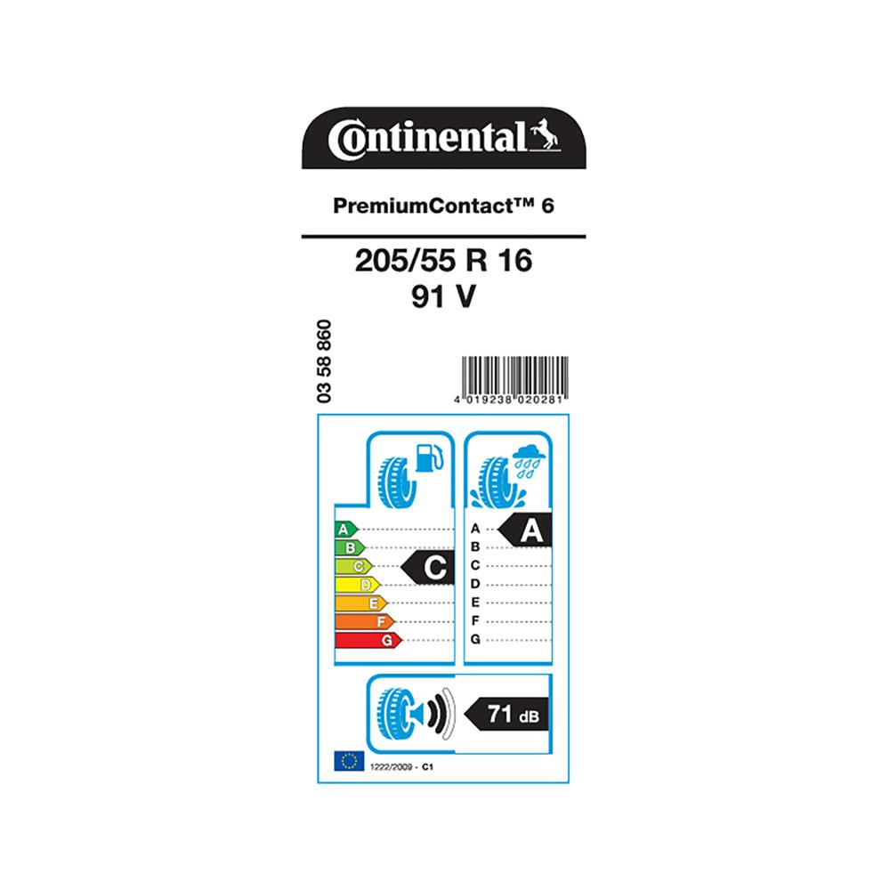 Continental 4 letne pnevmatike 205/55R16 91V PremiumContact 6