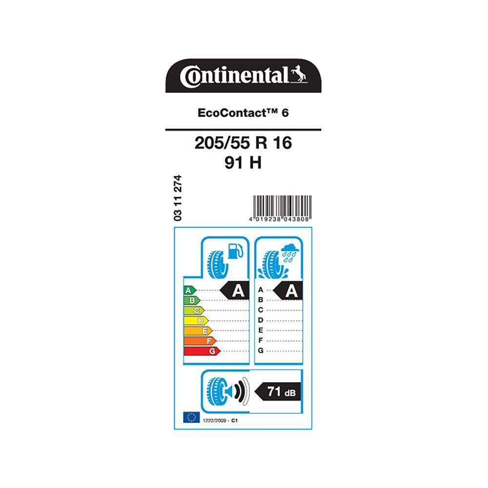 Continental 4 letne pnevmatike 205/55R16 91H EcoContact 6