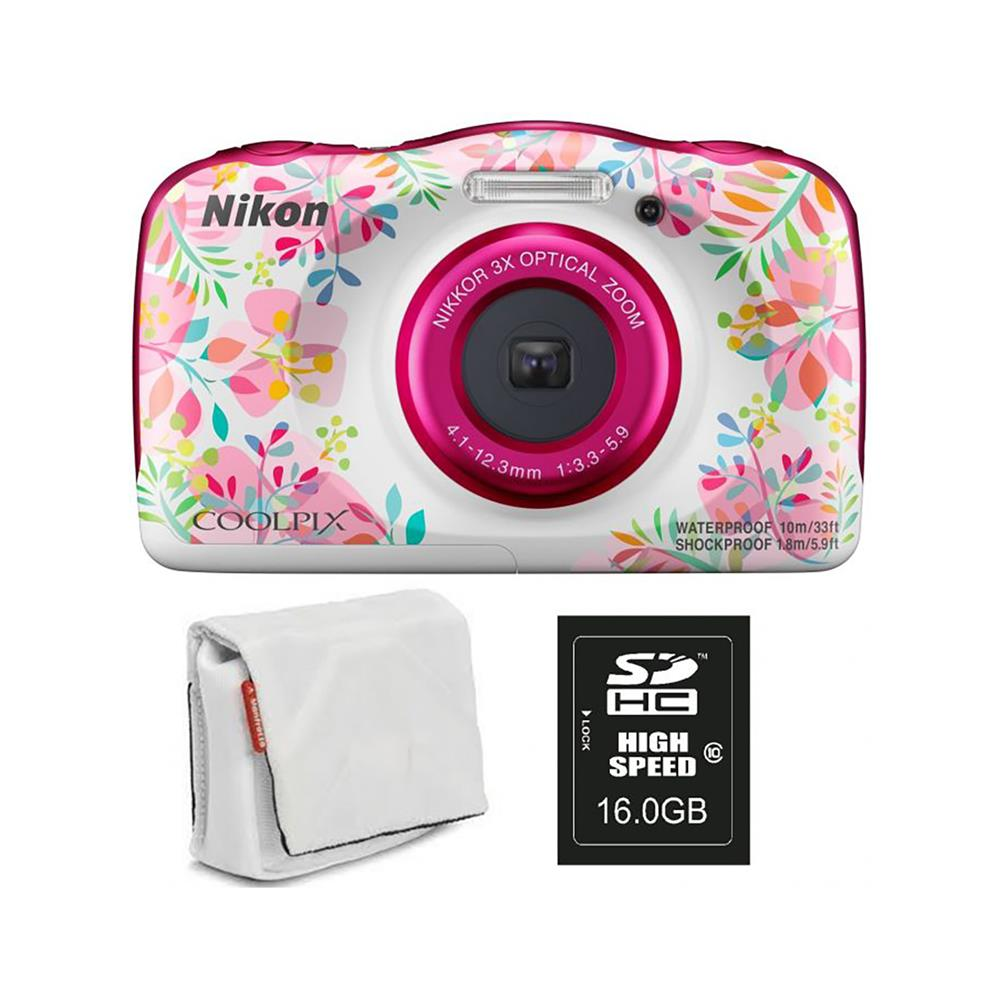 Nikon COOLPIX W150 cvetličen, SD16GB in torbica